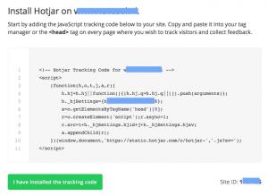 Hotjar installeren met code
