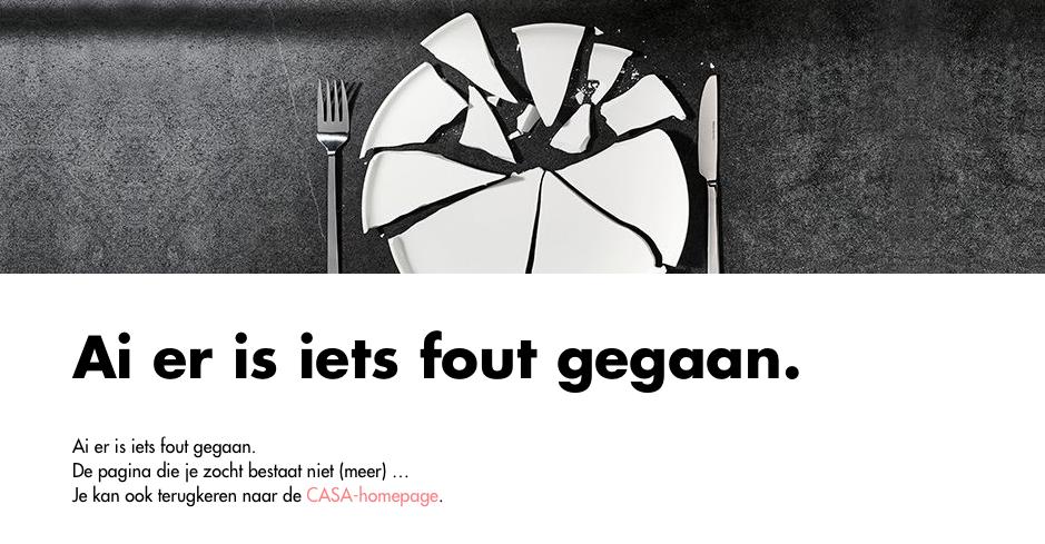 404 pagina: fout gegaan