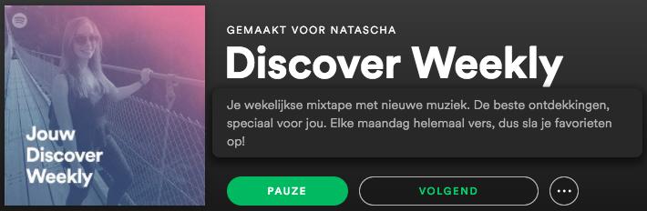 Forer effect voorbeeld van Spotify